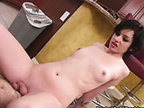 Slut plays with small-dicked lover without any shame
