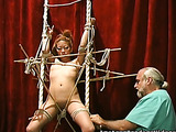 Naked Asian doll was caught and tied by a horny male
