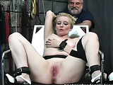 Sexy blonde gets her cunt stimulated by variable tools