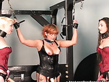 Blonde, brunette and redhead in one awesome BDSM video