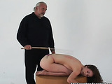 Tall skinny chick gets tied up and spanked like never before
