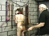 Chick's sensitive ass gets spanked by rude dominator