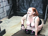 Plump ginger gets excited in the crazy sexual action