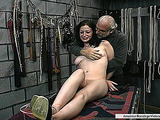 Colleen sucked old pervert's dick before getting fucked