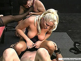 Two buddies were roughly dominated by two lewd mistresses