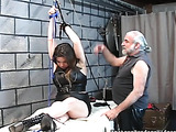 Couple gladly takes part in pervert's BDSM actions