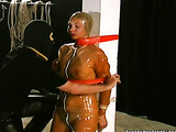 BDSM latex costume makes modest babe look seductively