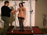 Obedient redhead in sexy stockings understands her crazy role