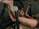 Sweet blonde slave gets toyed and fucked in the butt hole