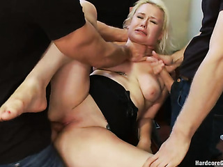 long haired blondie gets