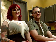 red-haired bitch with huge