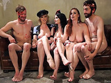 Halloween celebration turns into dirty group femdom action