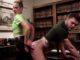 Library is a great place for femdom entertainments