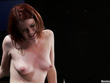 Attractive red-haired lassie experiences wonderful caressing