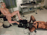 Blonde and brunette stunners have a hunger for machine