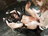 Three gorgeous ladies perform an incredible BDSM scene