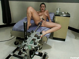 Robotic fucking machine makes sexy chick really excited