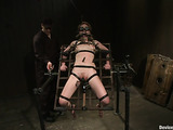 Dirty BDSM scene contains a lot of bondage devices