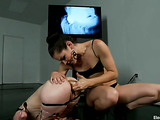 Petite redhead gladly agrees to become an electro slut