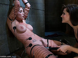 Helpless submissive has to play the role of electro slut