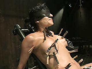 blindfolded latina waiting for