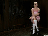 Petite blonde princess gladly becomes the submissive