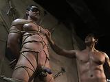 Ropes help brutal man to feel like a captured slave