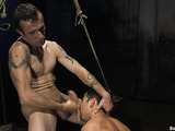 Bound twink is surprised with such a passionate sex action