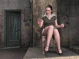 Scared petite chick becomes the slave of a perverted master