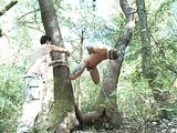 Super hot session with a submissive gay dude in the forest