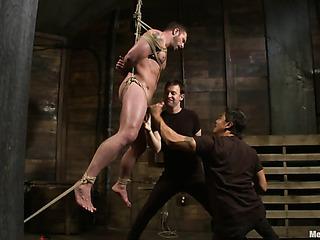 muscled dude bondage gets
