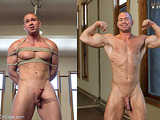 Muscled man gets used by two super freaky gay guys