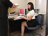 slutty office lady sucks her bosses dicks after tea time