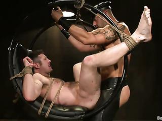 broad-shouldered dominator stimulates his