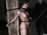 Chained brunette gal trying extreme sex in various bondage
