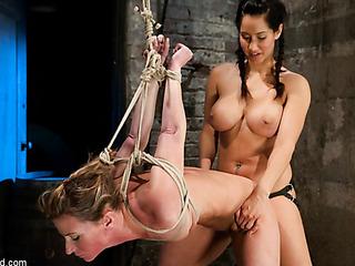 blonde bitch bondage gets