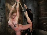 Busty blonde babe gets used so well in the basement