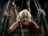 Blonde gymnast slut needs some hot bondage fun right now