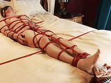 Blindfolded hunk gets tied up and assfucked by his master