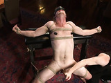 Blonde dude gets tied up and used by his master