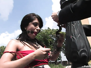gagged exotic chick gets
