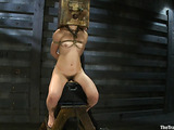 Blonde bitch in bondage is ready for some rough sex