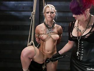 redhead mistress spandex spanks