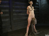 Raven haired bitch is ready for a rough bondage sex session