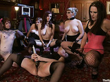Super hot group lesbian session with submissive porn whores