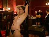 Three nasty bitches in bondage are ready for toying and fucking