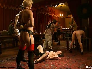 three tied porn slaves