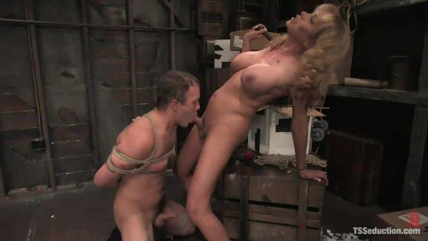 Does Busty bound slut fucked have