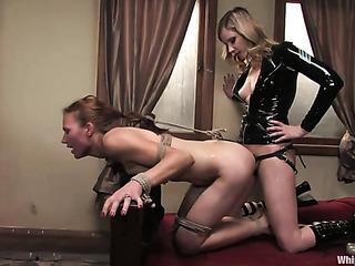 blonde bitch black leather