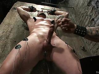 bald dude gets tied